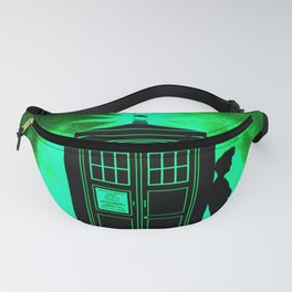 Tardis Light Green Shadow Fanny Pack