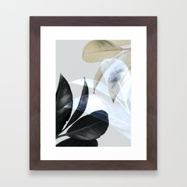 Moody Leaves II Framed Art Print