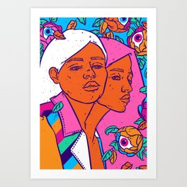 Siamese twins Art Print