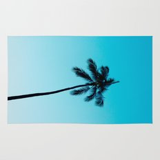palm tree ver.skyblue Rug