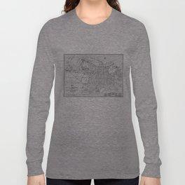 Vintage Map of Savannah Georgia (1910) Long Sleeve T-shirt