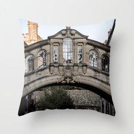Bridge of Sighs Oxford University England Throw Pillow