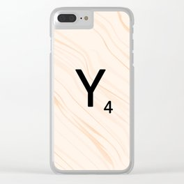 Scrabble Letter Y - Scrabble Art and Apparel Clear iPhone Case
