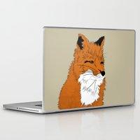 mr fox Laptop & iPad Skins featuring Mr Fox by Simone Clark