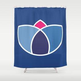 Blue Lotus Shower Curtain