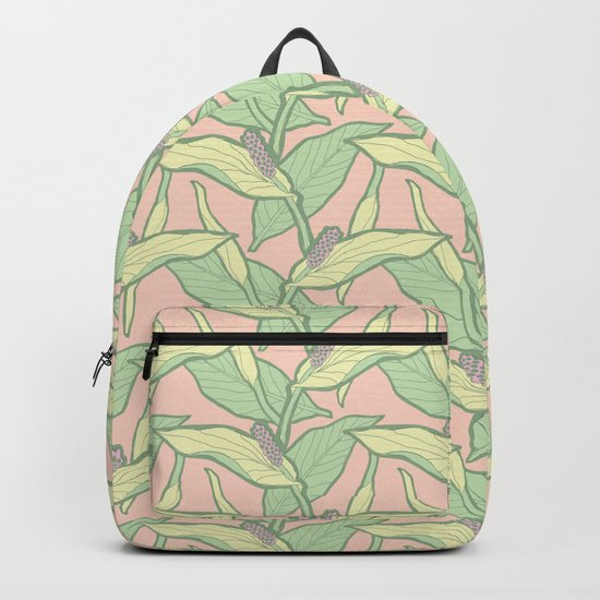 I come in peace lily Backpack