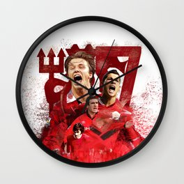 Man United Number 7 Wall Clock