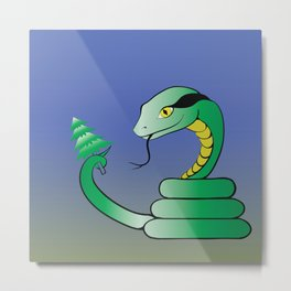 colorful illustration with snake Metal Print