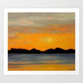 Stavanger Fjord Art Print