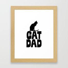 Cat Dad Framed Art Print