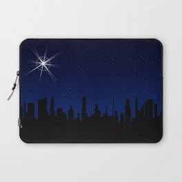 Christmas Star Over A City Laptop Sleeve