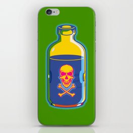 psychedelic poison bottle iPhone Skin