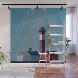 Northern landscape, minimalist illustration, nordic style, Sweden, Finland, Norway, Denmark Wall Mural