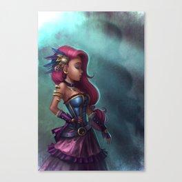 Steamgirl Canvas Print