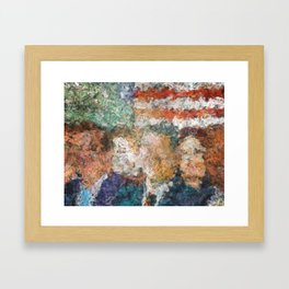 Patriots Gathering Framed Art Print