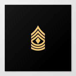 1st Sergeant (Gold) Canvas Print