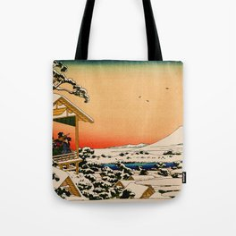 Snow at Koishikawa - Vintage Japanese Art Tote Bag
