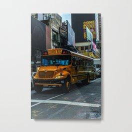 School bus Metal Print