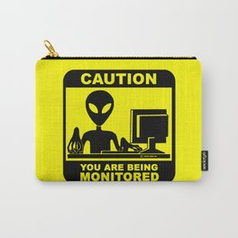 Caution! you are being monitored Carry-All Pouch