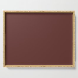 After Silence, Music ~ Reddish Brown Serving Tray