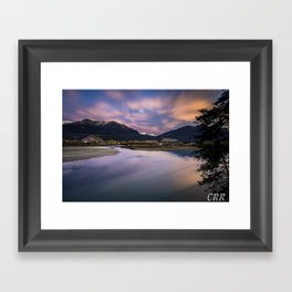Confluence of the Kicking Horse and Columbia River Framed Art Print