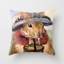 Bunny Illustration Throw Pillow