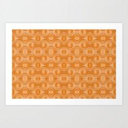 Rounded orange 4 Art Print