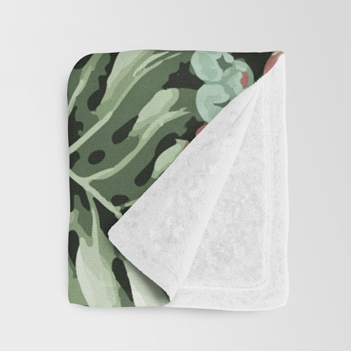 Jungle blush Throw Blanket