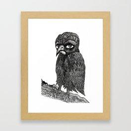 Morbid bird Framed Art Print