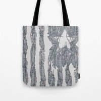 garfield Tote Bags featuring America Feather Flag by Sitchko Igor