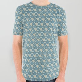 Blue drops All Over Graphic Tee