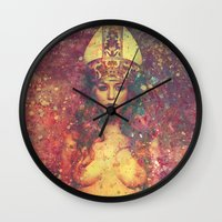 queen Wall Clocks featuring Queen by Nechifor Ionut