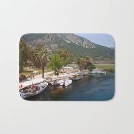 Fishing Boats on The River Azmak Akyaka Turkey Bath Mat