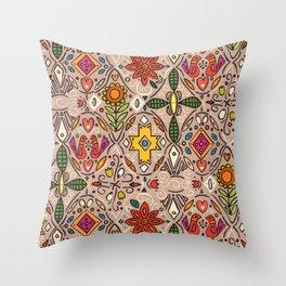 zoryana taupe Throw Pillow