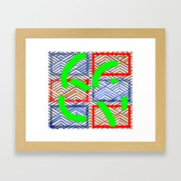 Collage with triangle/box effect Framed Art Print