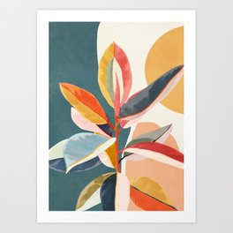 Colorful Branching Out 01 Art Print