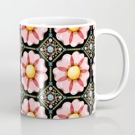 Pink Flower Boho Chic Coffee Mug