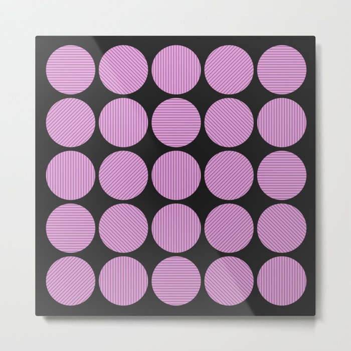 Pastel Pink Geometry (Abstract design in pink and charcoal) Metal Print