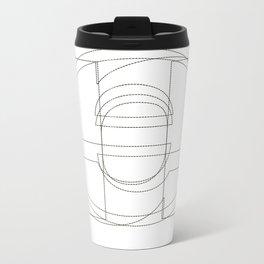 Die Neue Haas Grotesk (B-01) Metal Travel Mug