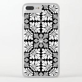 Tiger's Den / PATTERN/BLACK ORNAMENT Clear iPhone Case