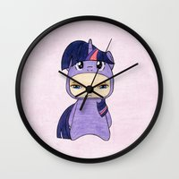 mlp Wall Clocks featuring A Boy - Twilight Sparkle by Christophe Chiozzi