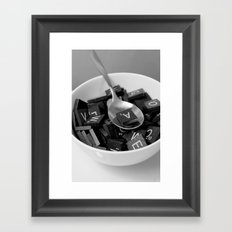 Alphabet Soup Framed Art Print