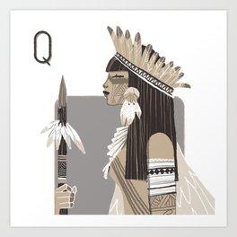Queen I. Art Print