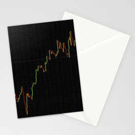 Japanese Candlestick Forex Stock Diagram Stationery Cards