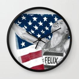Allyson Felix Wall Clock