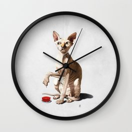 Cat-astrophe (Wordless) Wall Clock