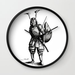 Samurai Fox Wall Clock