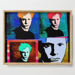 DYLAN THOMAS (FUNKY-COLOURED 4-UP COLLAGE) Serving Tray