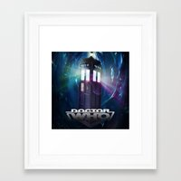 dr who Framed Art Prints featuring Dr Who by giftstore2u