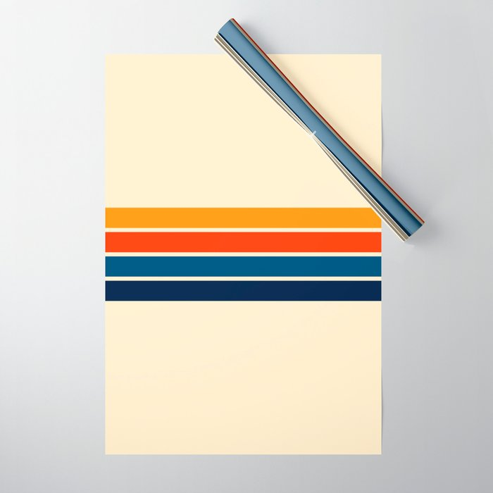 Classic Retro Stripes Wrapping Paper